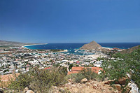 view of cabo san lucas harbor & bay